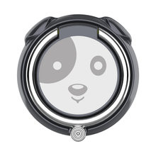 2018 Mini Kawaii Cute Dog Head Shape 360 Degree Rotation Mobile Phone Finger Holder Zinc Alloy Ring Holder Desktop Phone Stand(China)