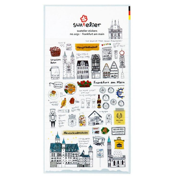 Frankfurt Am Main Decorative Washi Stickers Scrapbooking Stick Label Diary Stationery Album Stickers
