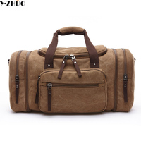 Large Capacity Canvas Men Travel Bags Women Weekend Carry On Luggage Bags Leisure Messenger Duffle Shoulder