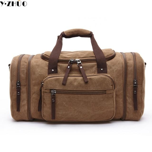 Homens viajam sacos de lona de grande capacidade das mulheres carregam na bagagem & sacos de fim de semana de lazer mensageiro duffle bolsa de ombro Bolsas