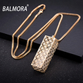 New Hot!75cm Long Gold Plated Pendant Necklaces for Women Female Link Chain Bijoux Gift Party Fashion Jewelry Collar BKN018