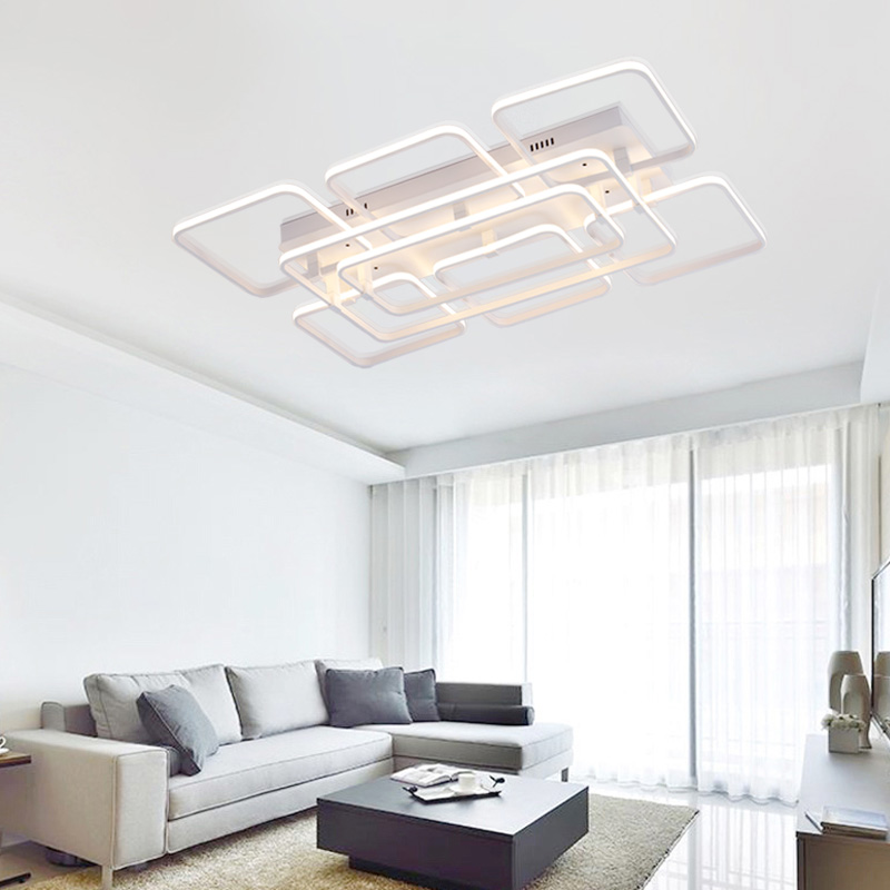 noosion modern ceiling light led art deco ceiling lamp for dining room rectangle acrylic lighting lampen moderna iluminacion in ceiling lights from lights