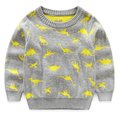 Children Cotton Long-Sleeve Sweater Autumn and Winter Sweater Cute Pattern Boys Sweater