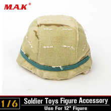 1:6 Scale WWII German Soldier Army M35 Plastic HELMET with Shade For 12 Military Action Figure Toys Accessories 1 6 scale movable 3 style 12 swat black uniform military army combat game toys soldier set action figure model toys