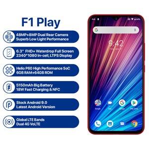"Image 2 - UMIDIGI F1 Play 6GB 64GB Android 9.0 téléphone mobile 48MP appareil photo 5150mAh 6.3 ""FHD + Helio P60 Version mondiale Smartphone double 4G"