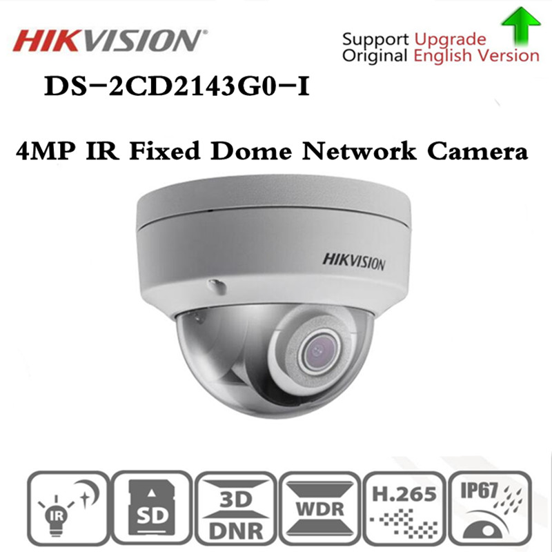 Original Hikvision DS-2CD2143G0-I Replacement DS-2CD2142FWD-I 4MP IR 30M H265 Fixed Dome Network Camera Free shipping dhl free shipping in stock new arrival english version ds 2cd2142fwd iws 4mp wdr fixed dome with wifi network camera