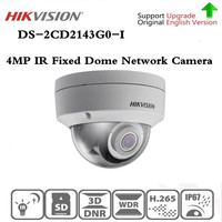 Original Hikvision ip camera DS 2CD2143G0 I replace DS 2CD2142FWD I 4MP IR 30M H265 Fixed Dome Network surveillance camera