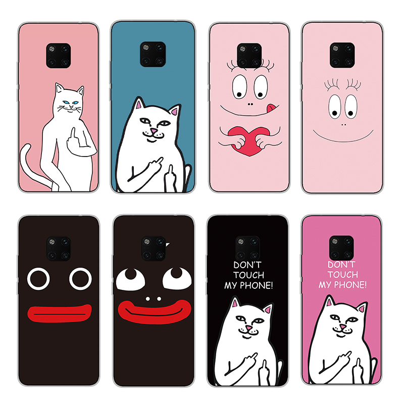 RIGTFKY Cute Brown Bear Silicone Cases For Huawei Mate 20 Lite Case Rabbit Pro Cover Soft Back