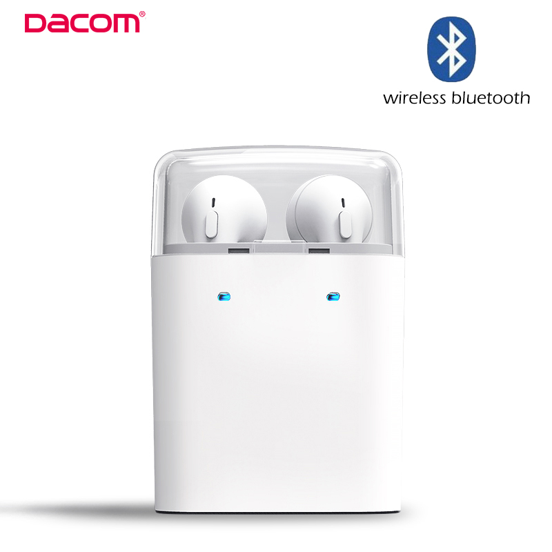 Original Dacom TWS Wireless Bluetooth Double-ear Headset for Apple iPhone 7 Plus for Airpods Earphones for Android Smartphones