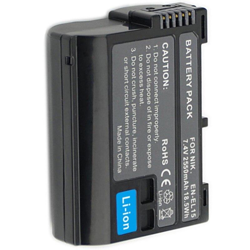EN-EL15 batería ENEL15 EN EL15 para Nikon DSLR D600 D610 D800 D800E D810 D7000 D7100 D7200 D500 D750 D7500 D600E cámara Digital