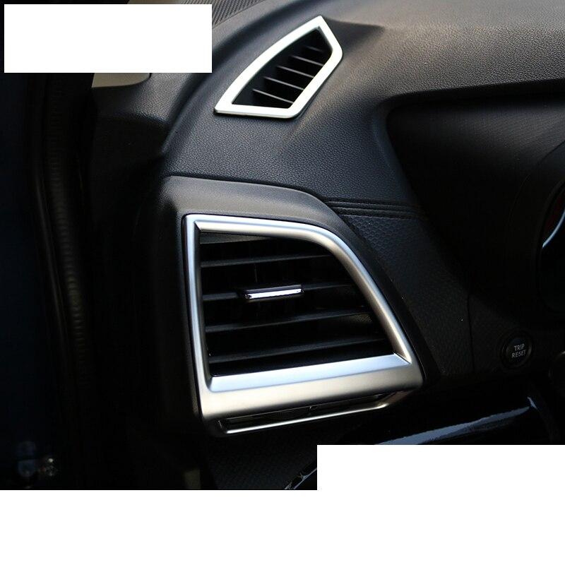 lsrtw2017 matt surface abs car dashboard vent trims for subaru forester sk 2019 2020