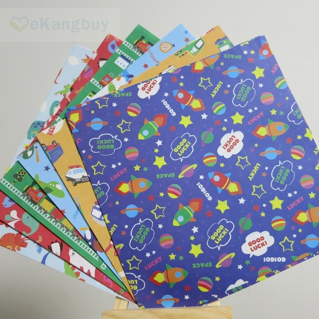 15x15cm Cute Origami Paper Kids Birthday Party Gift 6 designs x 2sides different print