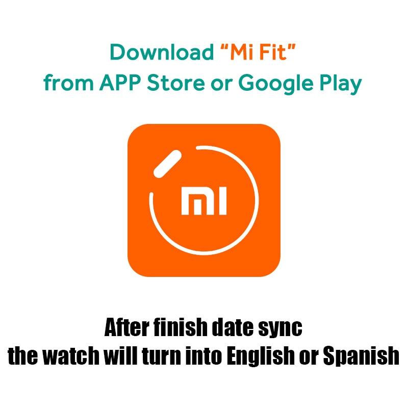 Xiaomi Smart Watch English Spanish Russian Multi language sports Global Version fitness Smartwatch