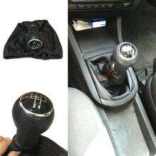 Для Seat Ibiza 1996 1997 1998 1999 2000 2001 5 скоростей MT автомобильный рычаг рычага переключения передач с полиуретановыми кожаными красными черными стежками