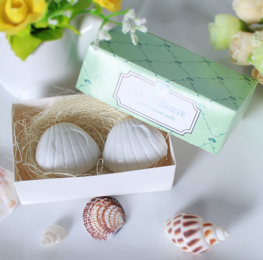 1pcs Cute Fancy shell shaped Soap for wedding give away gift , Souvenirs Shower Gift Wedding Supplies,summer style for ocean