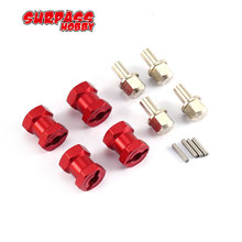 4pcs 12mm Hex 12mm 15mm 17mm Coupler Tire Extended for Traxxas Hsp Redcat Rc4wd Tamiya Axial scx10 D90 RC Crawler Big Foot Car 4pcs 12mm wheel hex drive hub adapter combiner coupler with pins screws for hsp hpi redcat tamiya traxxas rc4wd d90 1 10 rc car