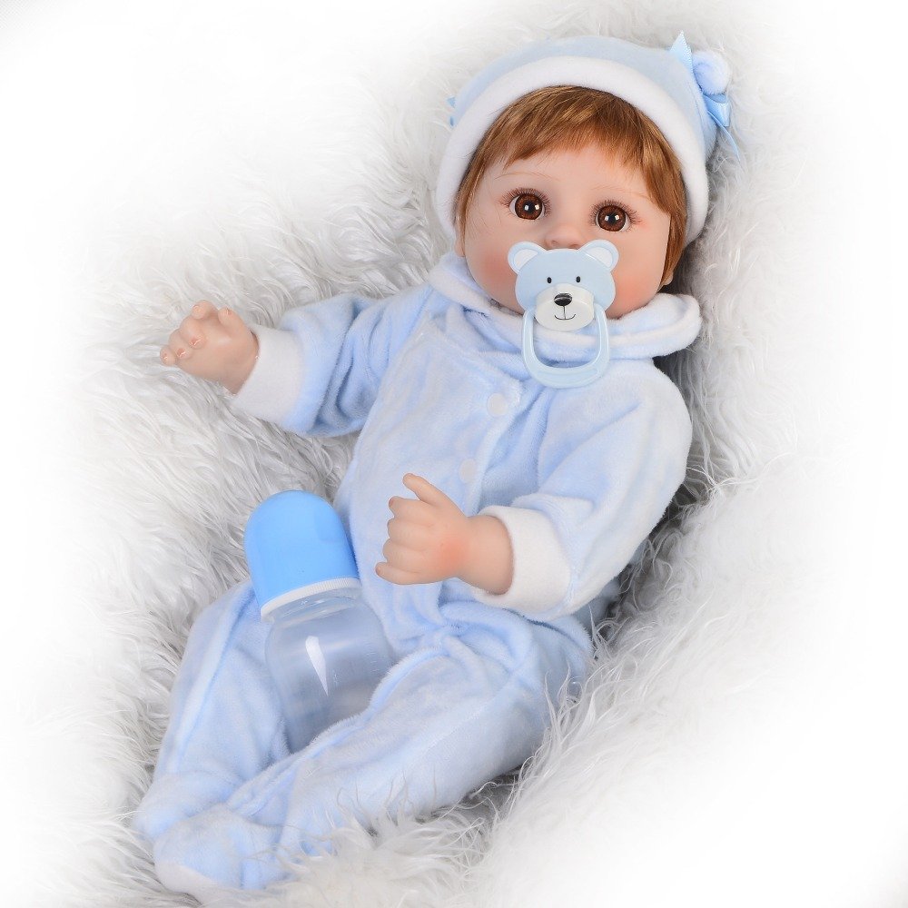 42cm Silicone Reborn Baby Doll Toys Toddler 17icn lifelike High Quality Birthday Gift Play House Toy real looking baby toddlers42cm Silicone Reborn Baby Doll Toys Toddler 17icn lifelike High Quality Birthday Gift Play House Toy real looking baby toddlers