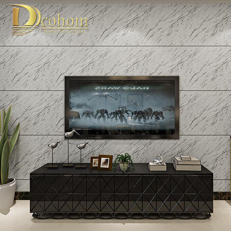цена на Modern Viny Striped Marblel Wallpaper Living room TV Sofa Waterproof PVC 3D Wall paper Home decor Wall covering Grey beige