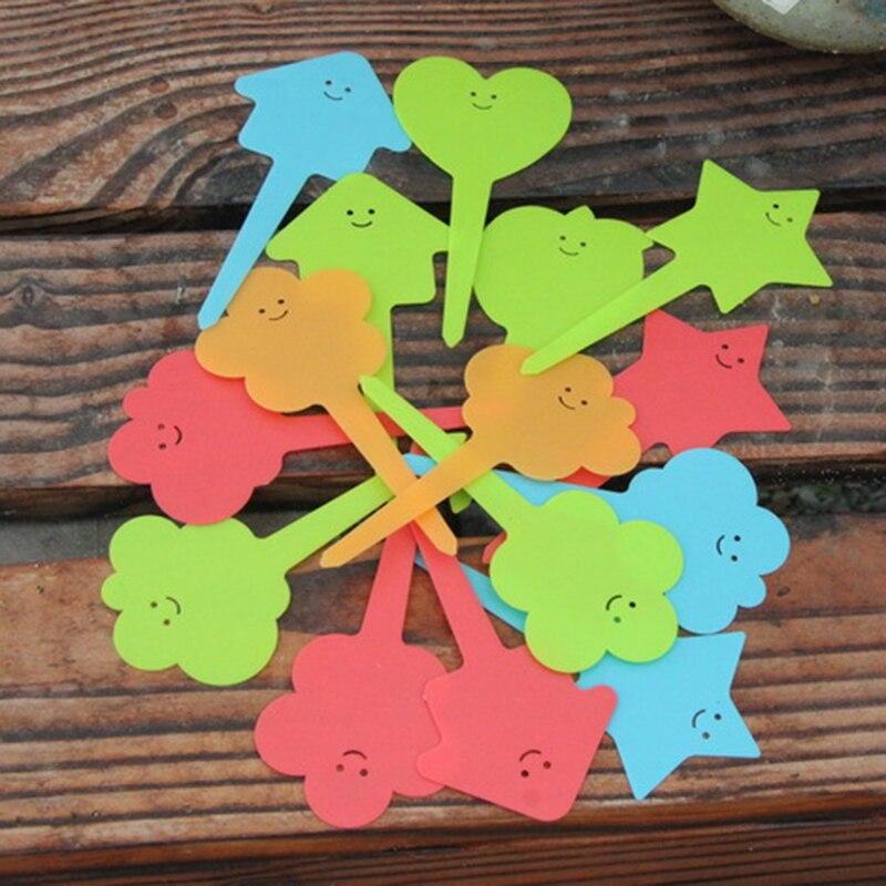 100pcs flower gardening label succulent plant label grounded label potted color style random