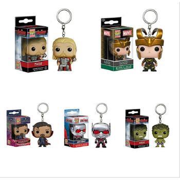 Marvel Avengers Costume Cosplay Portachiavi Ant-Man Dottor Strange Thor Loki Hulk Superhero Halloween Portachiavi Accessori di Scena