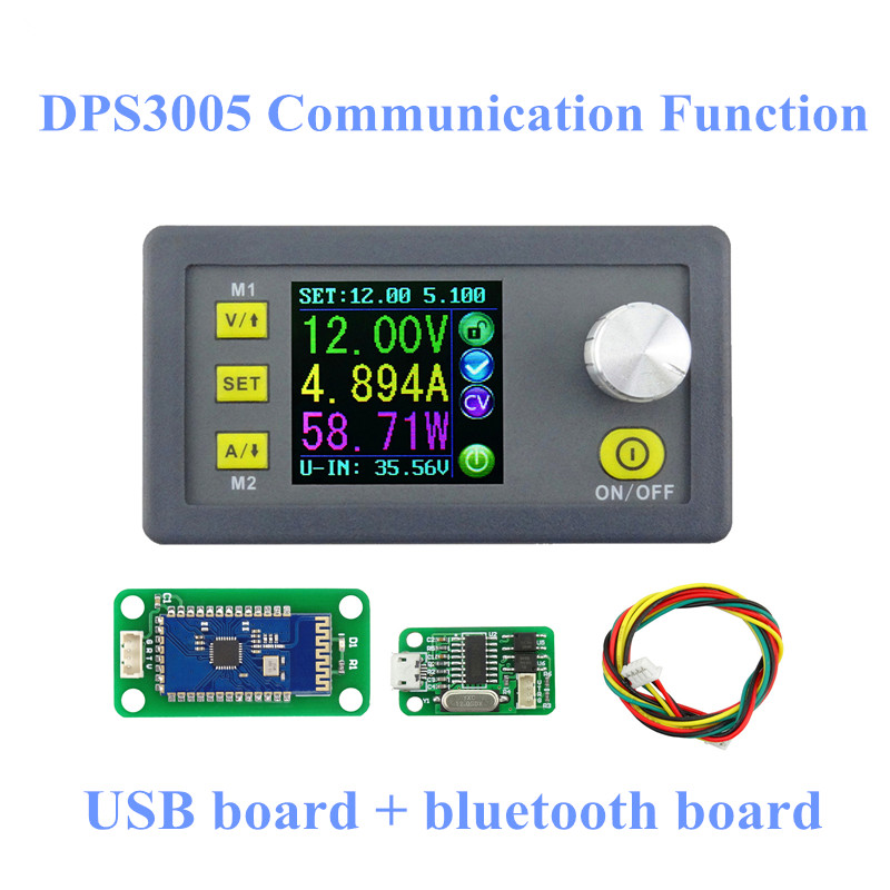 30pcs/lot by dhl or fedex DPS3005 Communication Function Step-down buck Voltage converter LCD voltmeter 40%off lcd converter step down voltage current meter dps3005 communication function regulator module buck voltmeter ammeter 40% off