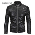 Hot ! High Quality New Spring Fashion Leather Jackets Men, Men's Leather Jacket Brand Motorcycle Black Leather Jackets NSWT5008