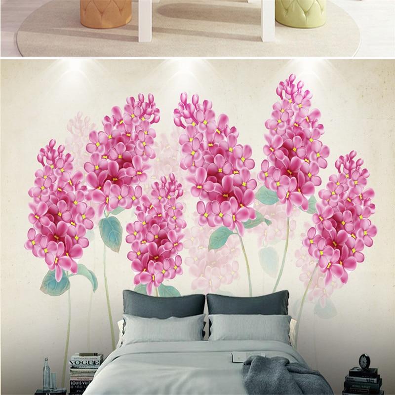 3D Custom Photo Wallpapers Hand painted Flowers Wallpaper Modern ...