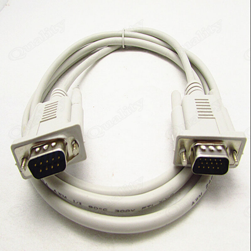 9 Pin To 15 Pin DB 9Pin Male To VGA 15 Pin Male Connector To Serial Port 232 Cable COM Line db62 db 62 pin 62pin male to 8 db9 hd db 9pin x 8 male adapter connector serial port cord cable for scsi pci 1 in 8 out