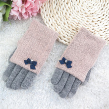 Women Multi-function Knitted Screen  Winter Gloves Soft Warm Mitten for iPhone Smartphones Laptop Tablet