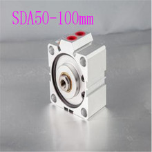 SDA50 Cylinder Compact SDA Series Bore 50mm Stroke 5-100mm Compact Air Cylinders Dual Action Air Pneumatic Cylinders