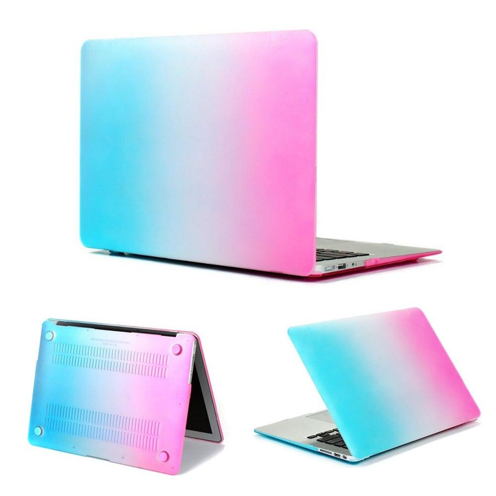 Accessoires informatiques ordinateur portable cas couleurs arc,en,coque de protection pour mac livre