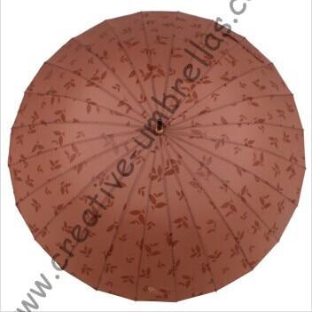 Livraison directe autorisée, parapluie droit 24 côtes, parapluies dégradés de couleur, changeant progressivement de couleur, parapluie à nervures cannelées