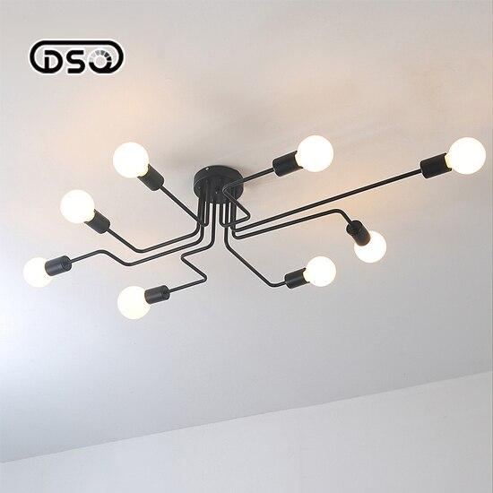 ФОТО American Creative DIY Iron Ceiling light Light Restaurant Foyer Living Room Lighting