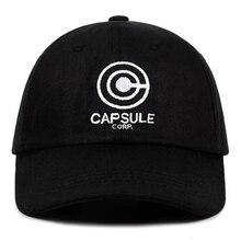 Чехол Capsule Corp. Папа шляпа мяч Дракон аниме песня хлопок Бейсболка с вышивкой унисекс Бейсбол шапки Для мужчин Для женщин праздничные шляпы