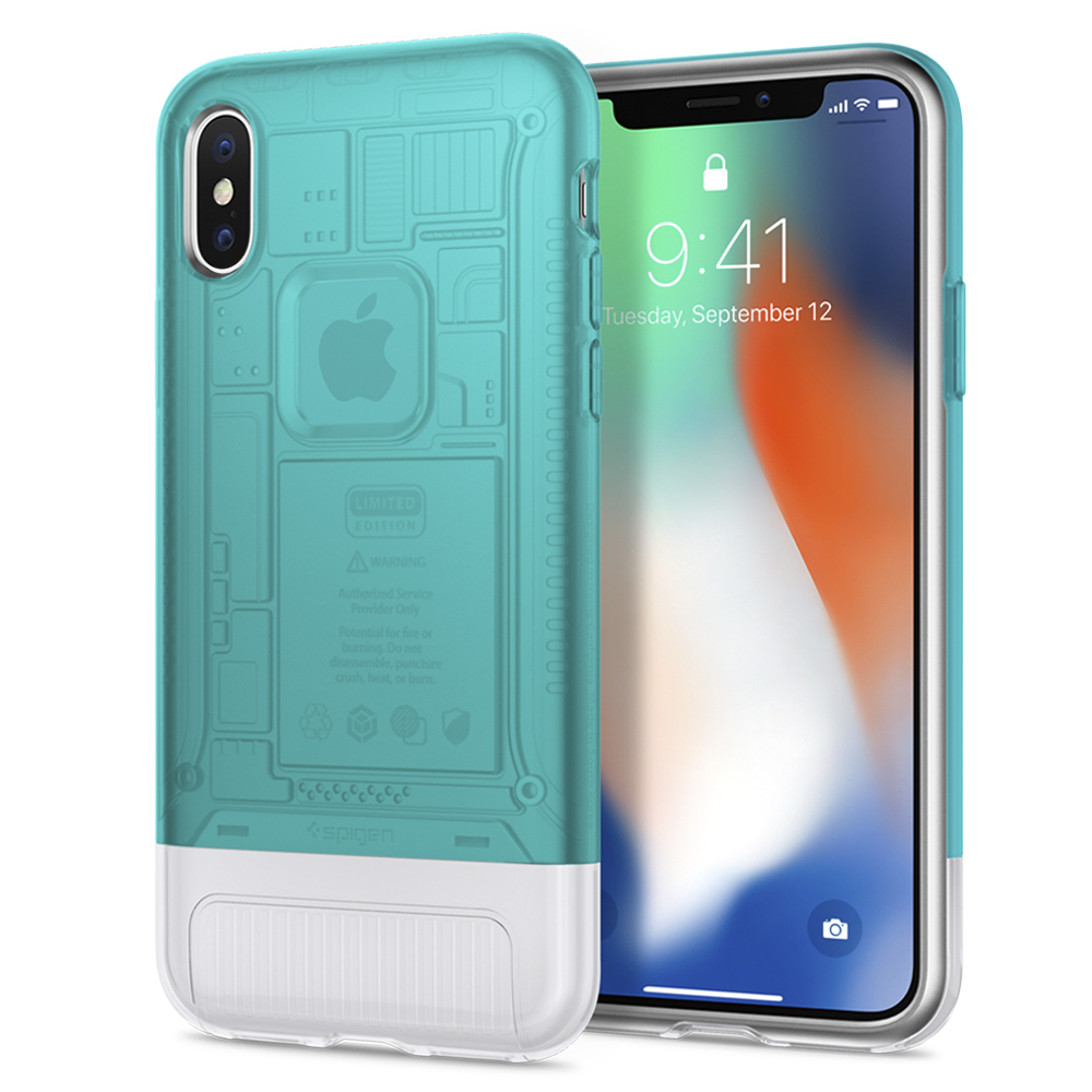 100% Originale SPIGEN Classico C1 [10th Anniversary Limited Edition] Custodie per iPhone X