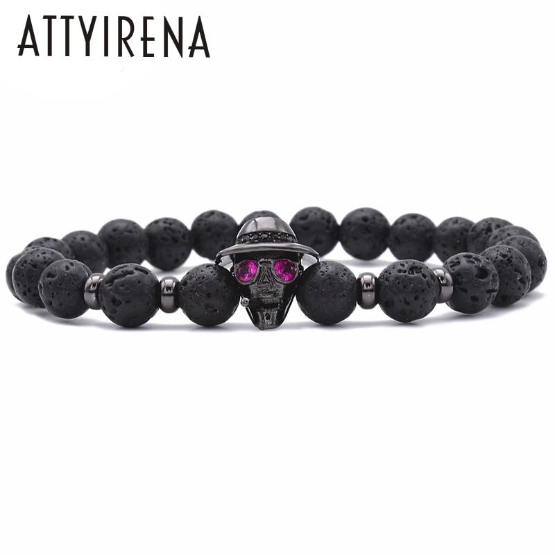 2018 ATTYIRENA Hot Sale 8MM Lava Charm Men's