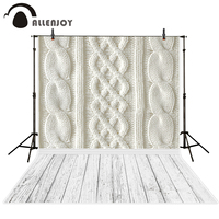 Allenjoy Photography Backdrops White Wool Yarn Pattern And Wood Floor Backgrounds For Photo Studio Photography Backdrop
