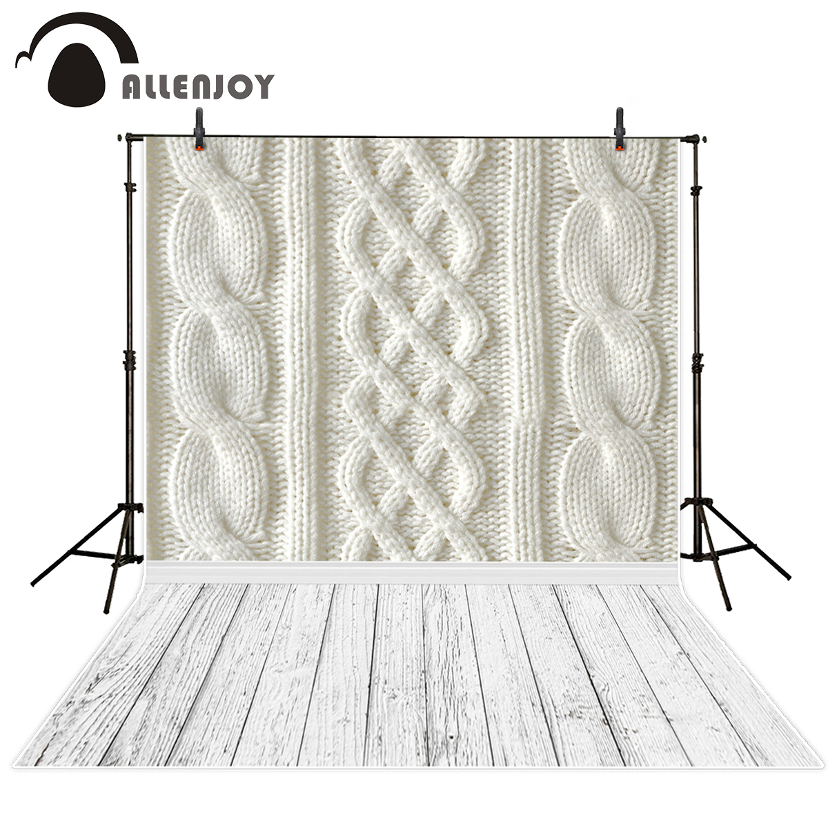 Allenjoy photography backdrops White wool yarn pattern and wood floor backgrounds for photo studio photography backdrop vinyl allenjoy photography backdrops white and gray brick wall brick floor backgrounds for photo studio photography studio backgrounds