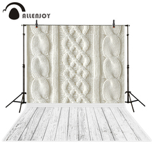 Allenjoy photography backdrops White wool yarn pattern and wood floor backgrounds for photo studio photography backdrop vinyl