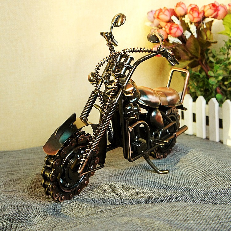 Big Size Chain Motorcycle Model Decoration Home Office Table Ornament M94 3d big guitar model jigsaw puzzle eco friendly cardboard musical instruments home decoration desktop ornament creative toy