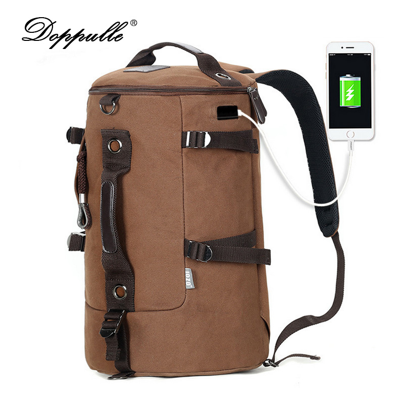 DOPPULLE Brand High Capacity Travel Bag New Arrival Cylinder package Multifunction Rusksack Backpacks Male Fashion Backpack