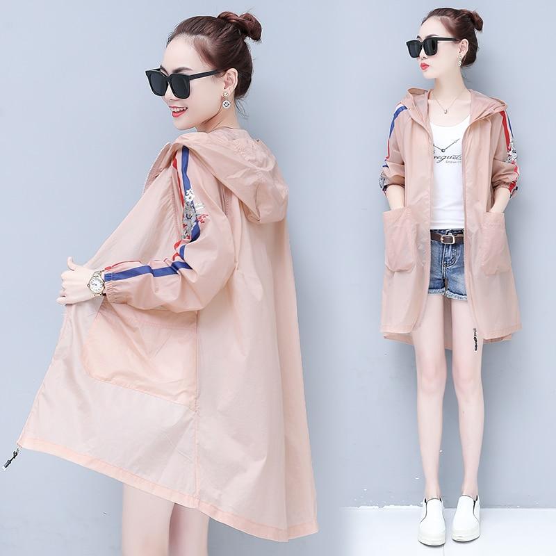 2018 new sunscreen clothing women s medium length anti ultraviolet breathable beach coat big size thin