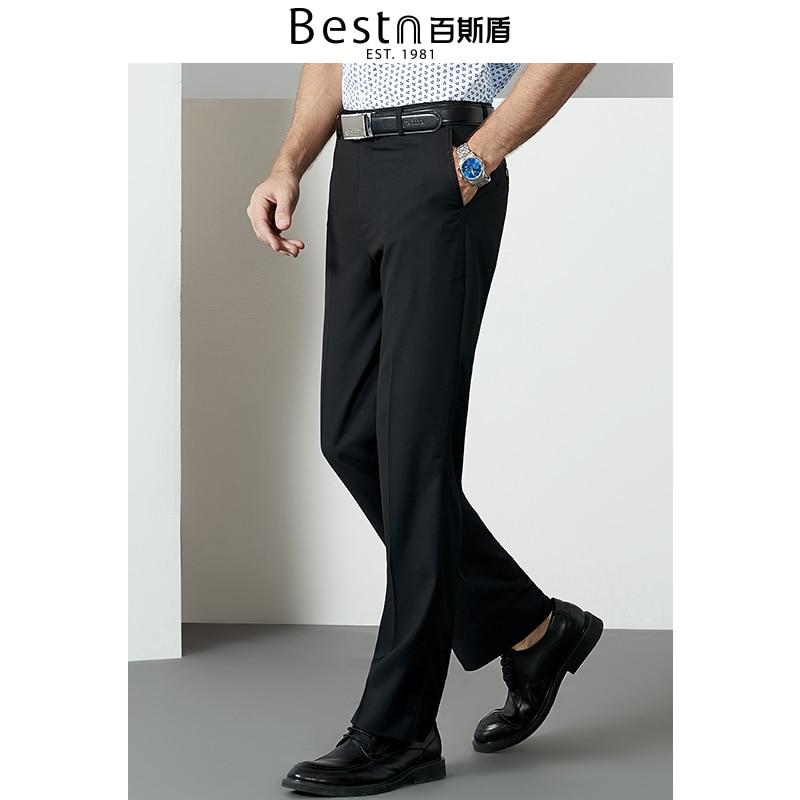 Bestn 2019 Frühling Sommer Formale Hosen Für Männer Business Casual Formale Klassische Gerade Solide Sanfte Anzug Männlichen Hosen J71b02301