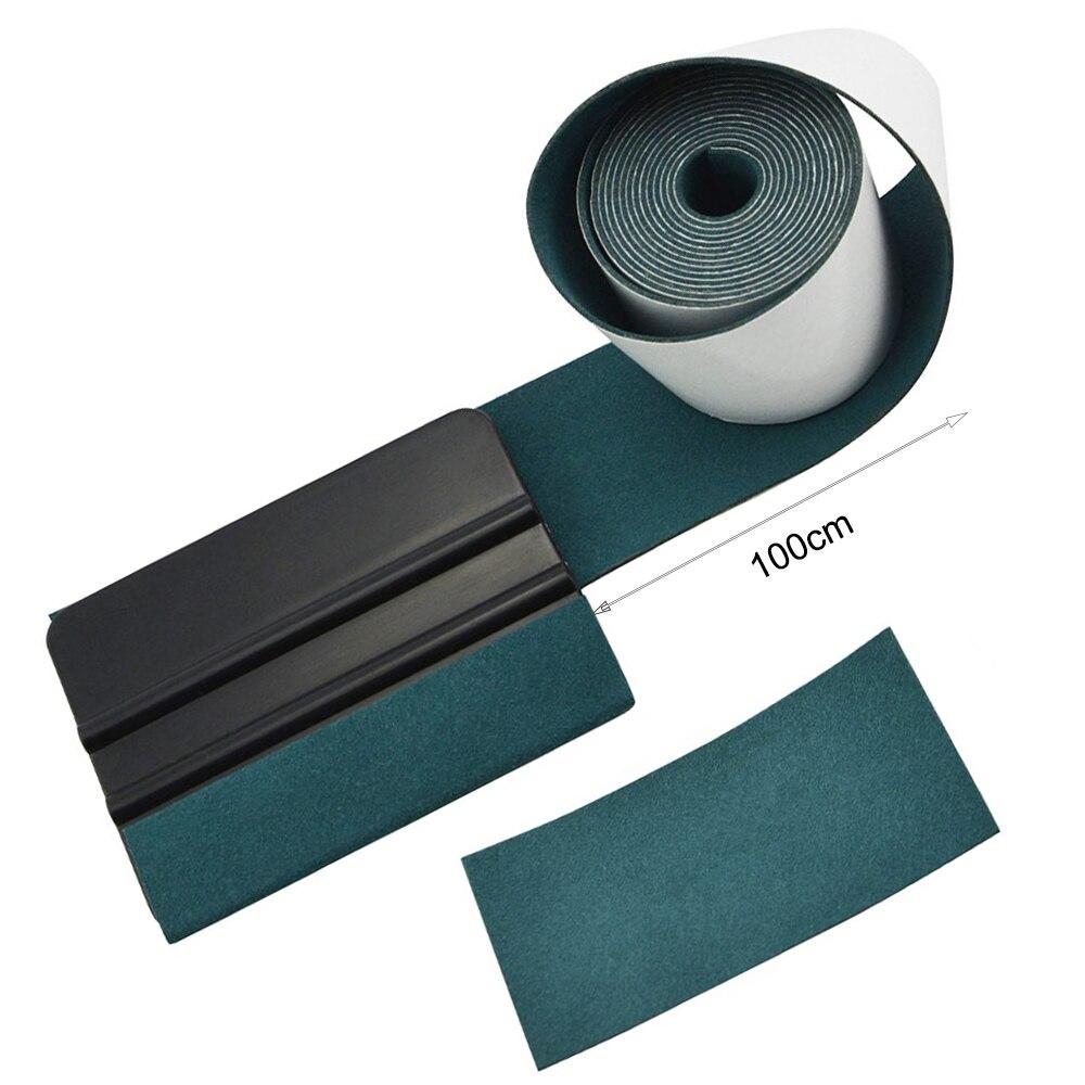 FOSHIO 100CM No Scratch Suede Fabric Edge Carbon Fiber Vinyl Wrap Car Tools Squeegee Auto Window Tint Scraper Protective Cloth-in Scraper from Automobiles & Motorcycles
