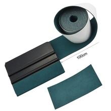 FOSHIO bord en tissu daim, 100CM, tissu de protection, enveloppe en vinyle en Fiber de carbone, outils de voiture