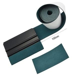 Image 1 - FOSHIO bord en tissu daim, 100CM, tissu de protection, enveloppe en vinyle en Fiber de carbone, outils de voiture