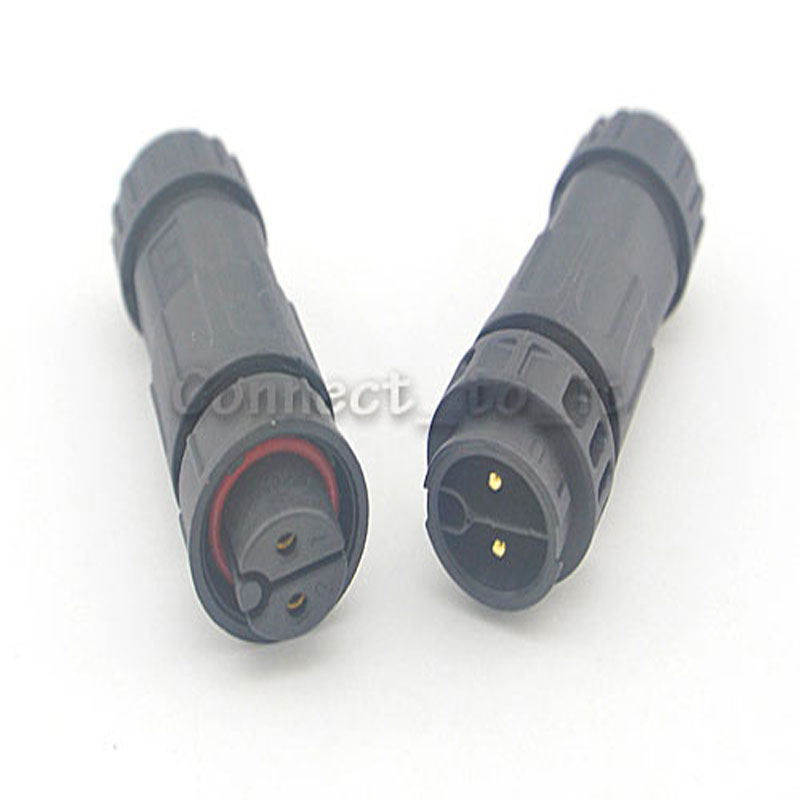 10 Pcs M19 2 Pin Waterproof Connector Adapter Male Female Led Light Lamp IP68 Connector 2pin Wire Contacts Adapter 2 Pole bnc male connector tee t shaped head 2 female adapter silver 2 pcs