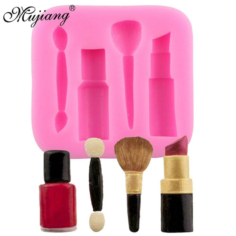 Lipstick Cake: Mujiang Makeup Tools Lipstick Cake Silicone Mold Gumpaste