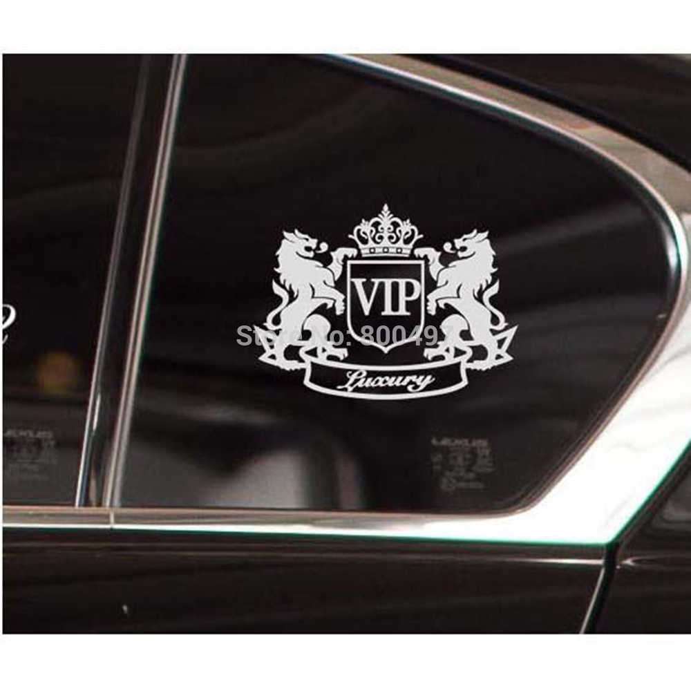 New Style Car Styling Decorative Luxury Lion VIP Creative Window Trunk Fuel Tank Car Body Sticker Decoration Vinyl Decal