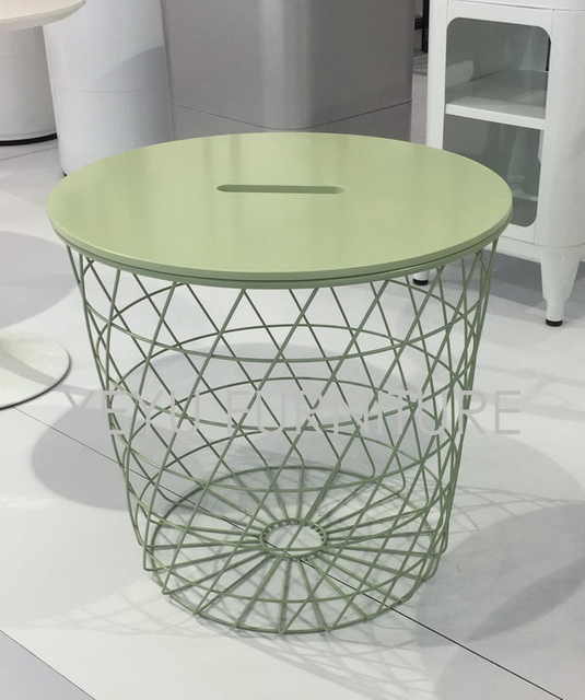 Dia 44cm Modern Minimalism Europe Storage Side Table Metal Wire Storage Tea  Table Multifunction Coffee Table